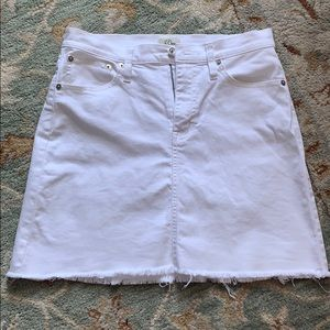 J Crew Jean Miniskirt